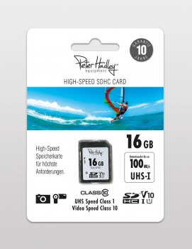 Peter Hadley High-Speed 16 GB SDHC-Karte Cl10 UHS-I, U1, V10 (100/35 MB/s)