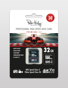 Peter Hadley Prof. High-Speed 32GB UHS-I SDHC-Karte Cl10, U3, V30 (100/70 MB/s) inkl. Jewel-Case