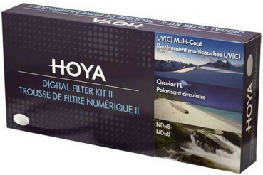 Hoya Digital Filter Kit II 72mm Polfilter + ND-Filter + UV-Filter + Filtertasche