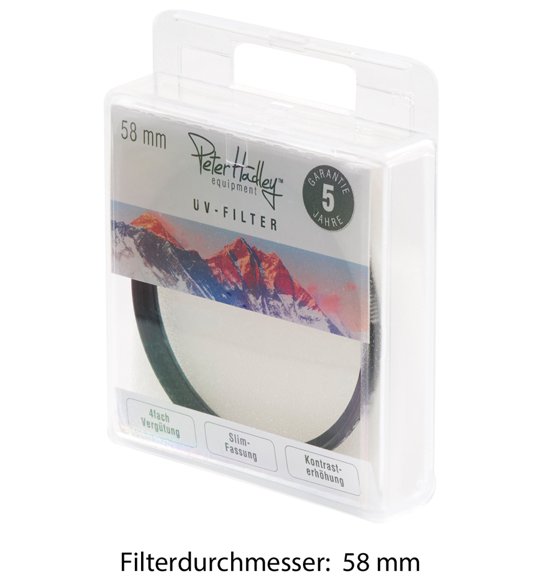 58mm  Slim MCUV Filter  inkl.Filterbox 58mm