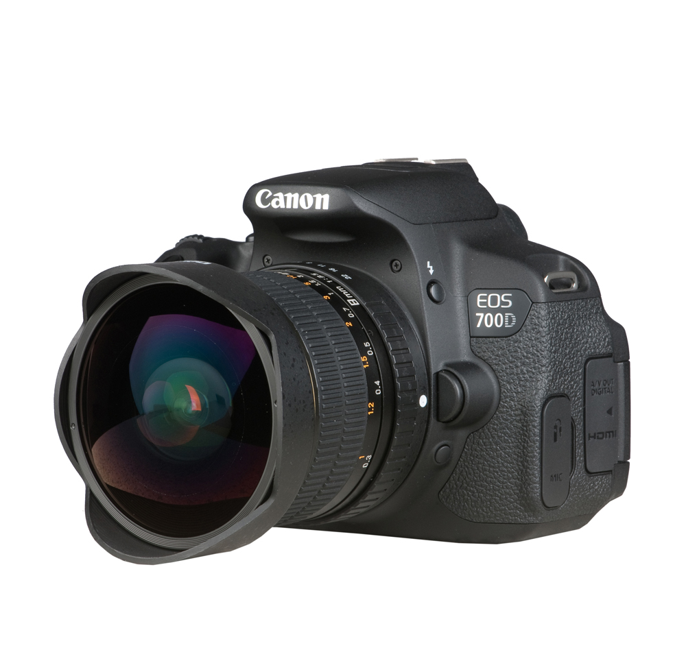 Foto-Edelmann - Dörr Fisheye Objektiv 8mm 1:3,5 für Sony Alpha A-Mount