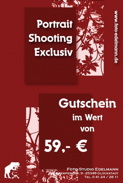 Gutschein Portrait Shooting Exclusiv